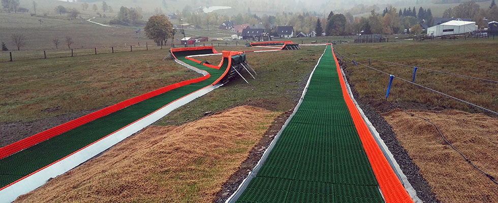 Geosky used for a Tubing Slope in Czech Republic