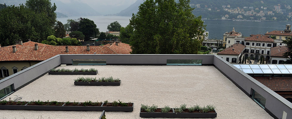 Lake Como Hotel Geogravel for the rooftop