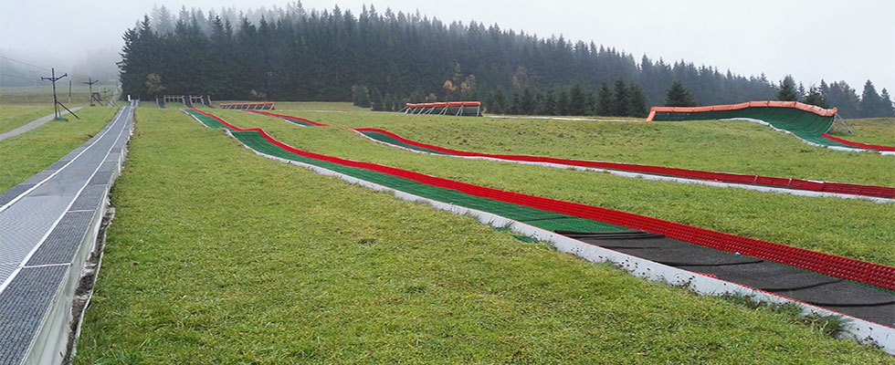 Tubing tracks, Ramzova, Czech Republic
