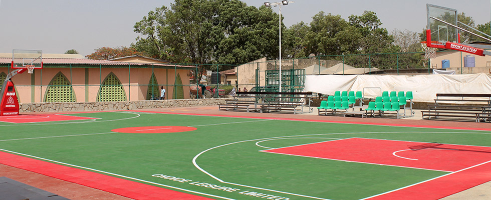 Campo da basket outdoor all universit ahmadu bello for Campo da basket regolamentare