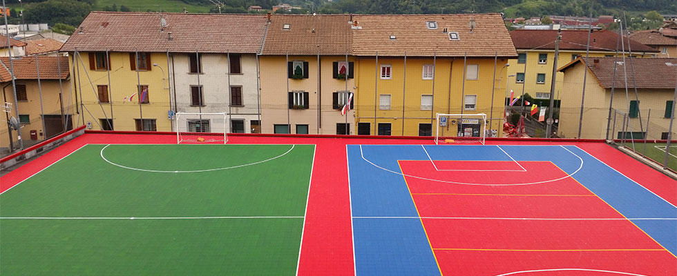futsal courts with Gripper