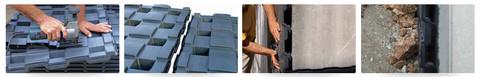 Abschluss der oberen Ecken und Kanten mit Plastikkarton: