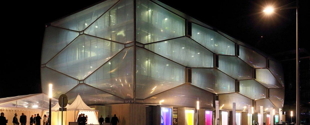 Skydome used for construction of lightened slabs in Le ...