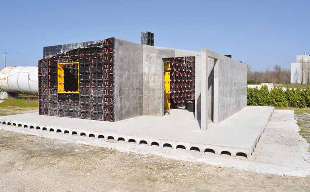 Realizzazione di case in calcestruzzo