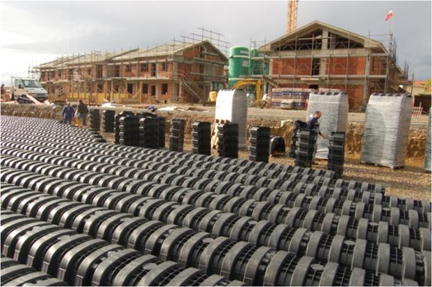 Entwässerung von Wohn- und Geschäftsgebäuden