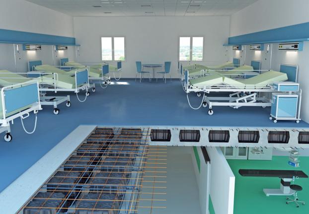 New Nautilus - slab system for hospitals