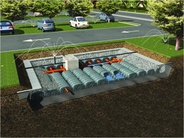 Bewässerung der Grünanlagen