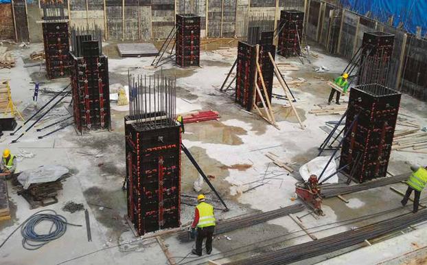 Realizzazione colonne di grandi dimensioni