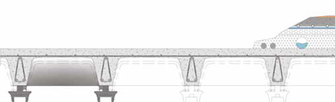 Skyrail cross section