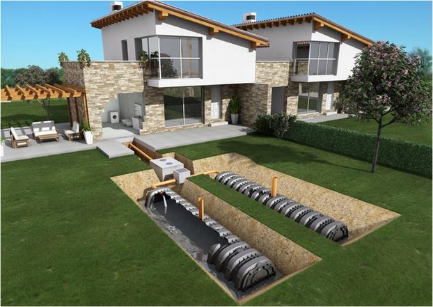 Untergrund mit Bewässerung