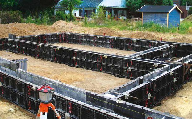 Geopanel usage for foundation slabs and concrete plinths