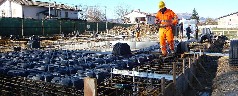 Geoplast antiseismic platforms in Amatrice, Italy – Geoplast