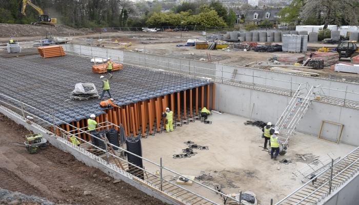 New Elevetor Tank installation in Craig House, Edinburgh