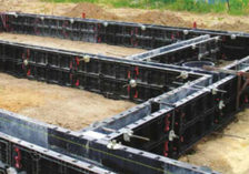 Concrete plinths and foundation formwork