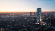 la nuova torre Varyant a Bornova, Turchia
