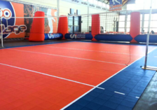 Volleyball gripper indoor surface
