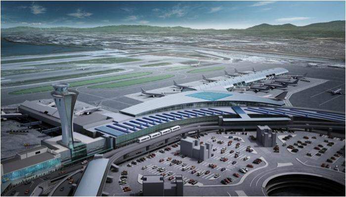 The New Terminal at San Francisco Airport