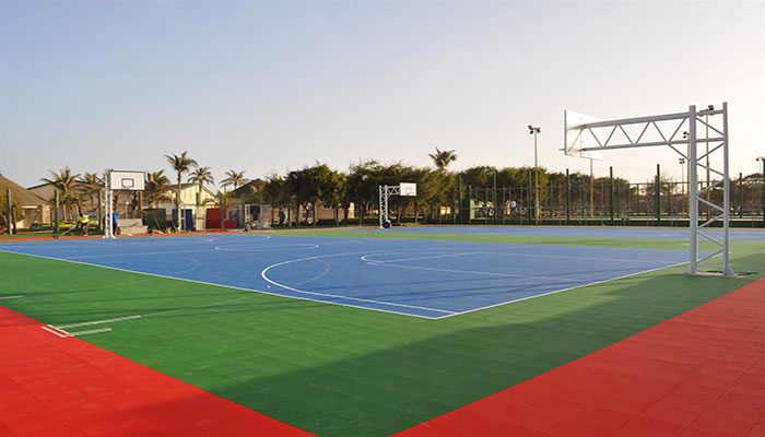 Finished Gripper sports courts in Senegal