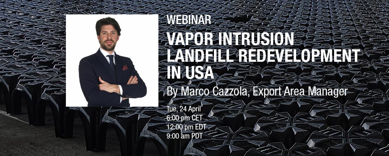 Geoplast webinar Vapor intrusion – Landfill redevelopment in USA hosted by Marco Cazzola