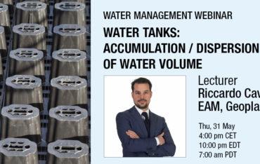 webinar Water tanks: accumulation/dispersion of water volume
