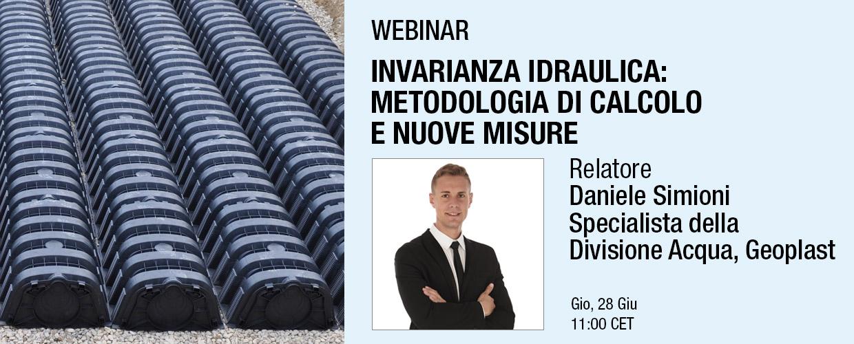 Invarianza idraulica: metodologia di calcolo e nuove misure, relatore Daniele Simioni