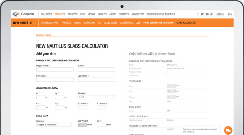 GeoplastGlobal Calculator