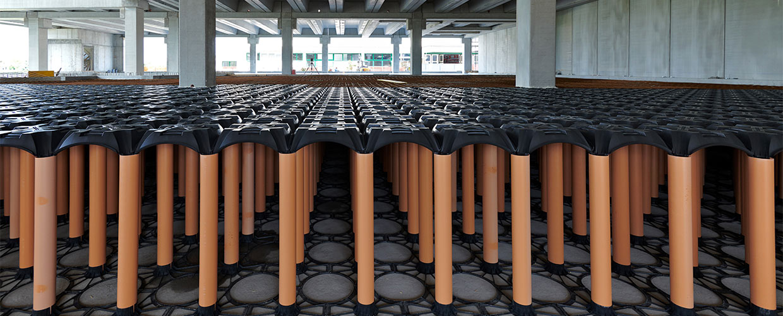 New Elevetor refrigeration warehouse ventilated foundation