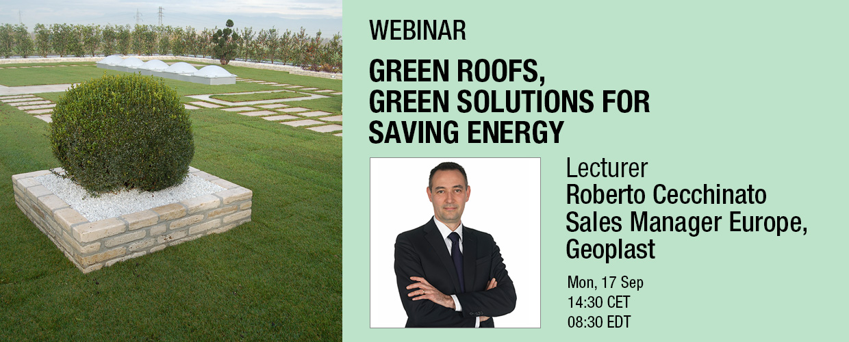 Green roofs, green solutions for saving energy webinar Roberto Cecchinato