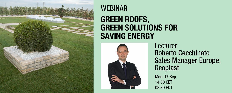 Green roofs, green solutions for saving energy webinar Roberto Cecchinato