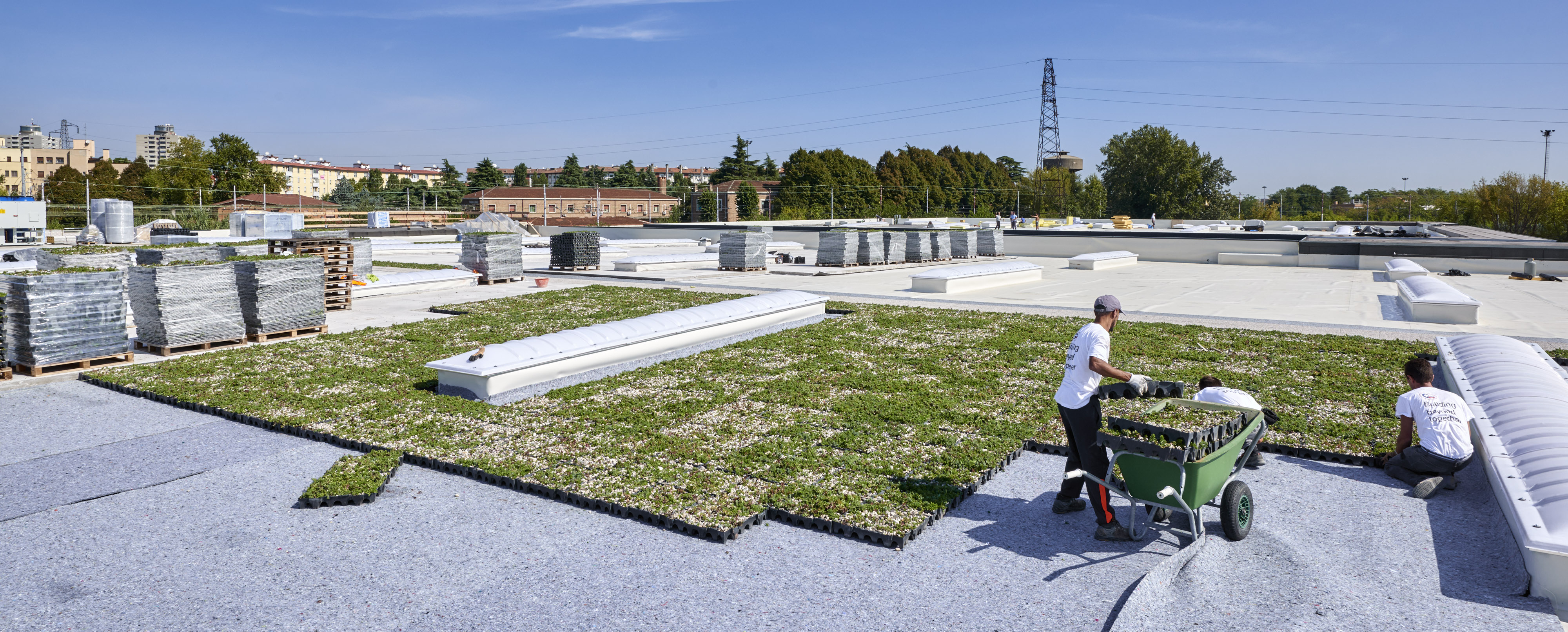 Geoplast Project Completa Despar Supermarket Green Roof