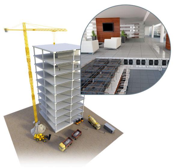 Neu Nautilus Evo ist eine modulare Betonschalung aus recyceltem Polypropylen