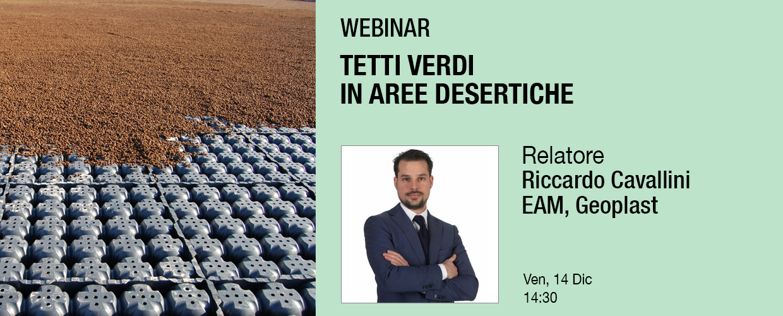 Geoplast webinar Insights Events Riccardo Cavallini Tetti Verdi