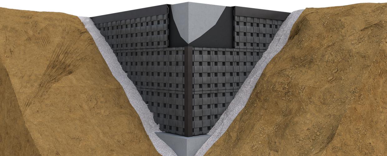 Geoplast Defender ventilationandwaterproofing space