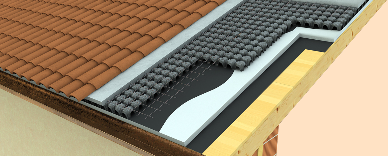 Geoplast Minimodulo ventilated roof