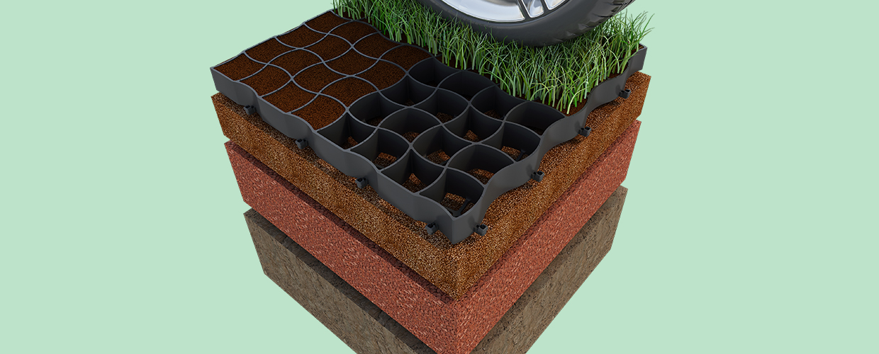 Geoplast Runfloor grid for soil stabilization
