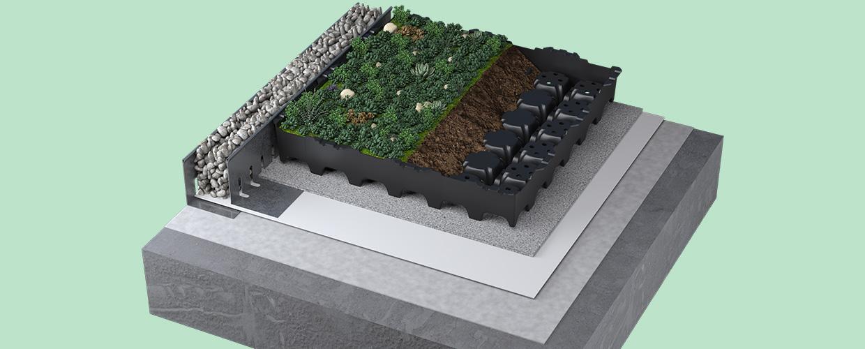 Geoplast Completa sedum roof