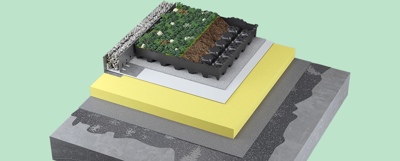 Geoplast Completa green roof
