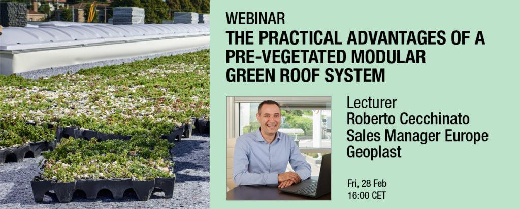 Geoplast webinar modular green roof