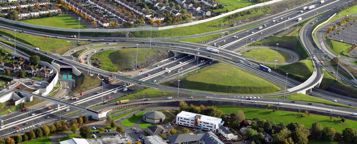 Geoplast infrastructure solutions enhance urban resilience - M50 Motorway