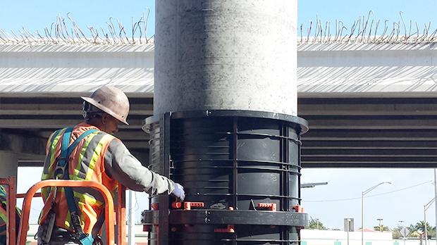 Viaduct construction Geoplast Formwork