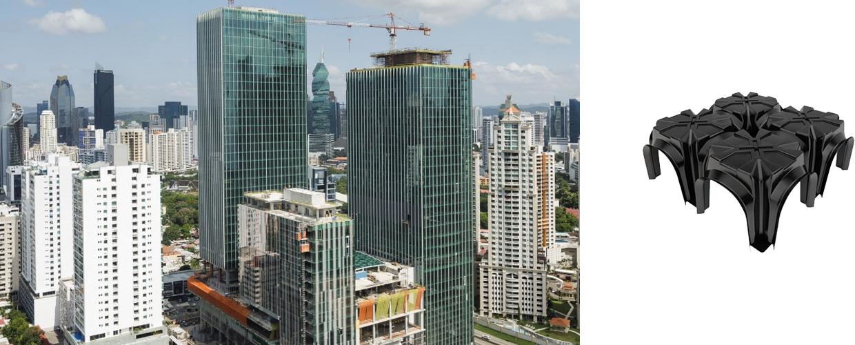 Pacific Center in Panama ist ein multifunktionaler Komplex der sich in drei Türme mit über 200.000 m2 aufteilt