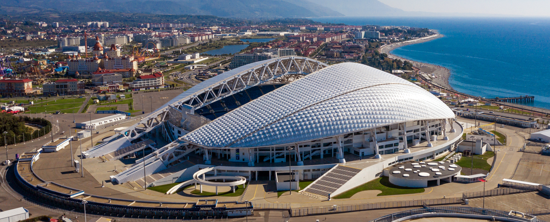 Geoplast, Geotub, Fisht Olympic Stadium, Sochi, Russia