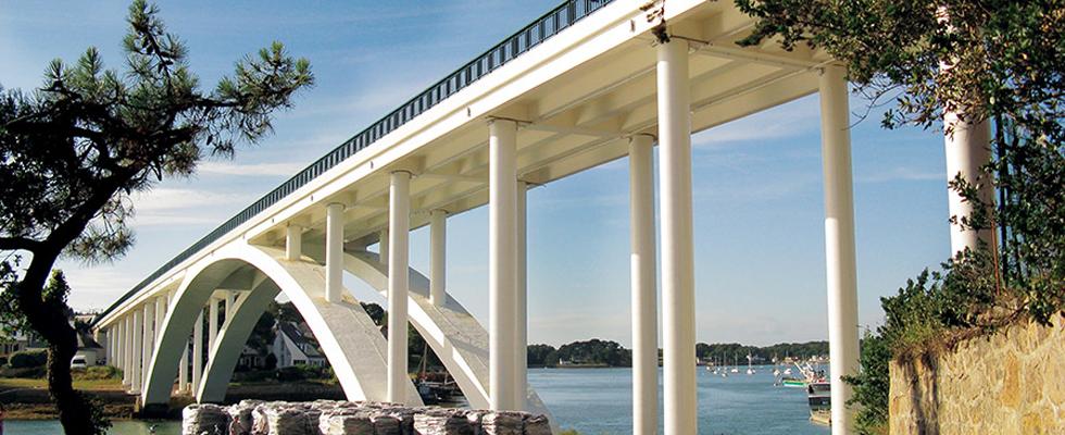 Kerisper bridge, La Trinite sur Mer, Geoplast, Geotub
