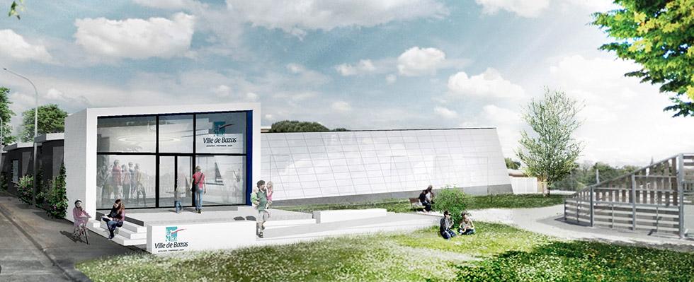 Municipal swimming pool, Bazas, Geoplast, New Elevetor