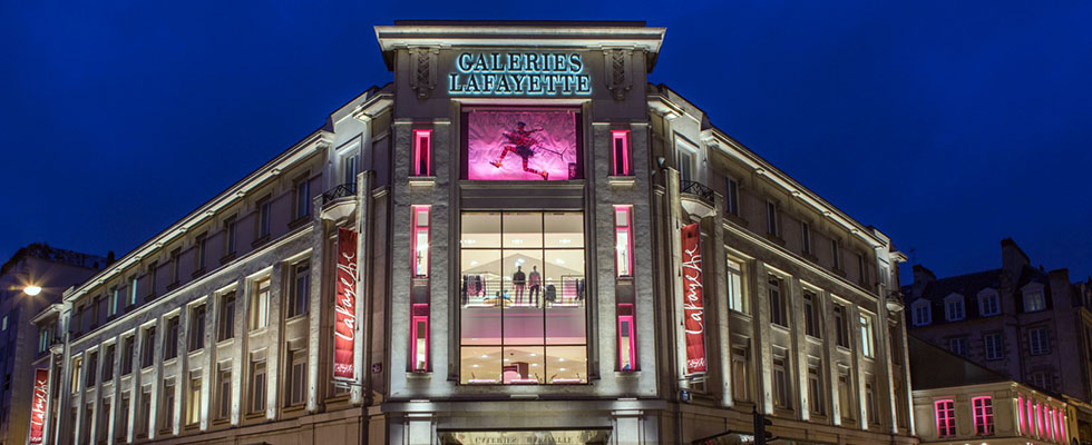 Galeries Lafayette, Rennes, Geoplast, New Nautilus Evo