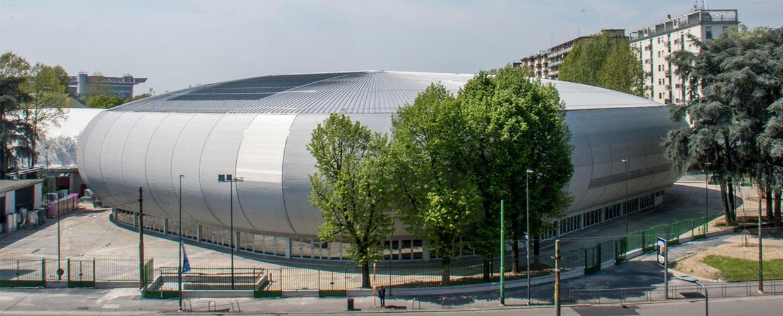 Geoplast, Drainpanel, Allianz Cloud arena, Milan, facade