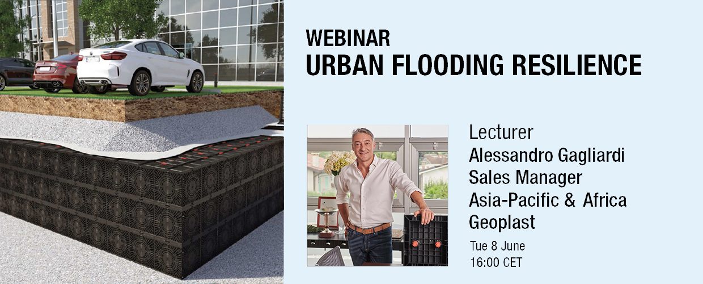 Urban flood resilience webinar Geoplast