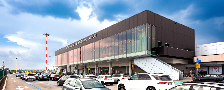 Milan Bergamo Airport, Orio al Serio, Italy, front view