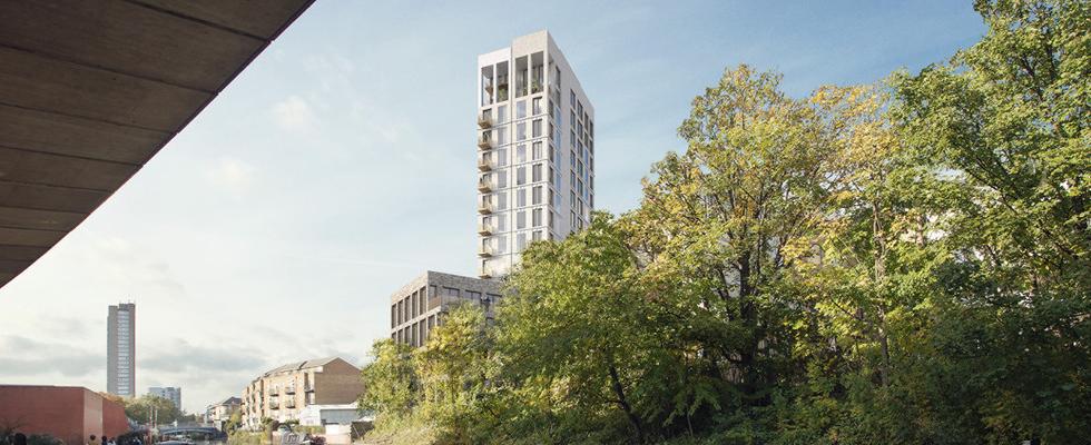 Geoplast, New Elevetor Tank, Hathaway House redevelopment, London, UK