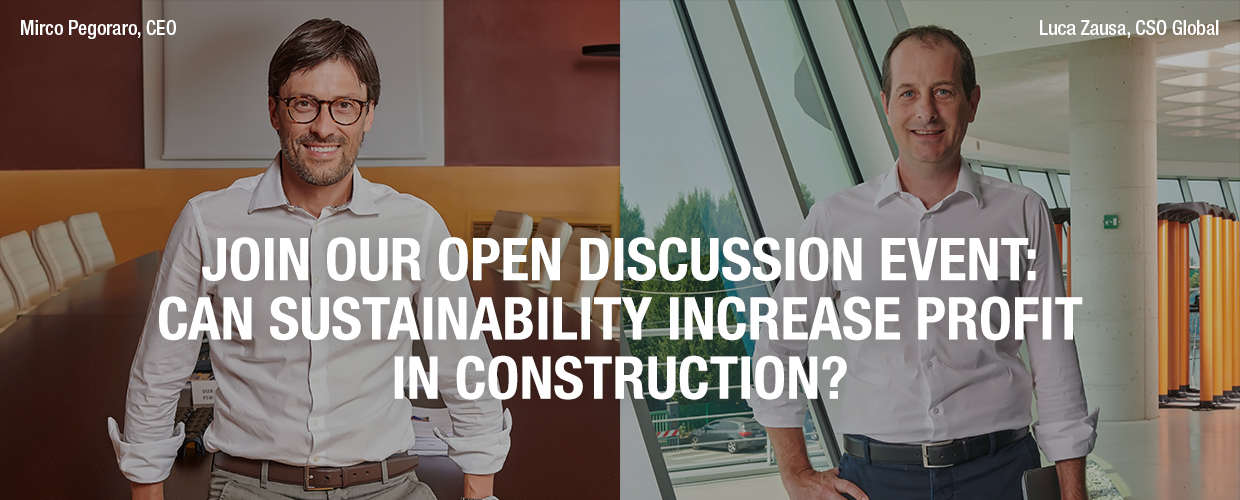 Join our open discussion event – can sustainability increase profit in construction?